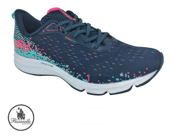 Tênis Esportivo Feminino Olympikus Running Swift Tecido Azul