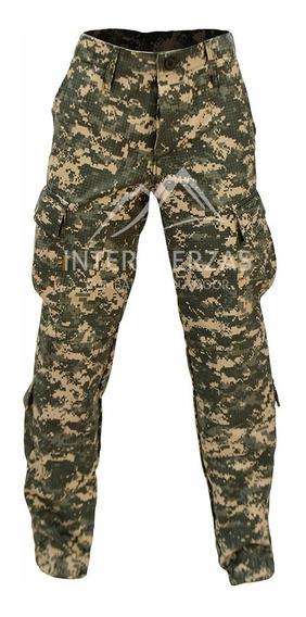 Pantalon Militar Tactico Camuflado Acu Pixelado Antidesgarro