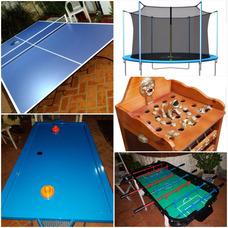 Alquiler De Metegol, Ping Pong,tejo, Sapo Y Cama Elastica!!!