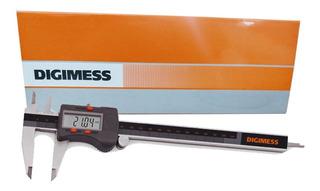 Paquímetro Digital Digimess 200mm 100.176bl C/ Nf E Original