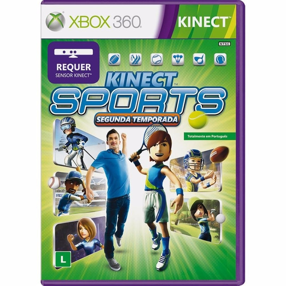 Kinect Sports Segunda Temporada Xbox 360 Mídia Física