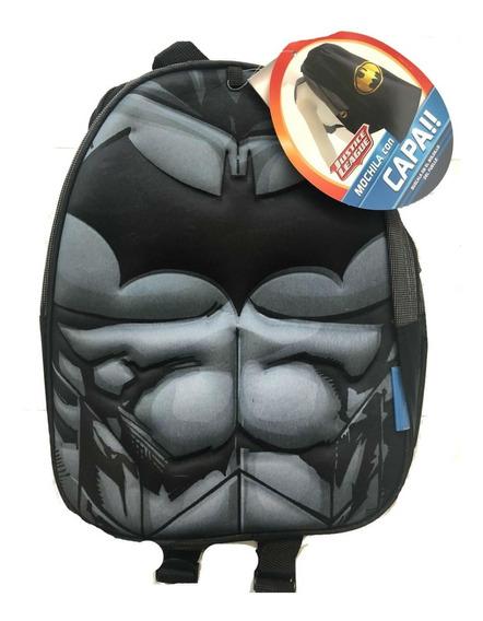 Mochila 3d Jardin Batman Superman Flash Muj Maravilla C/capa