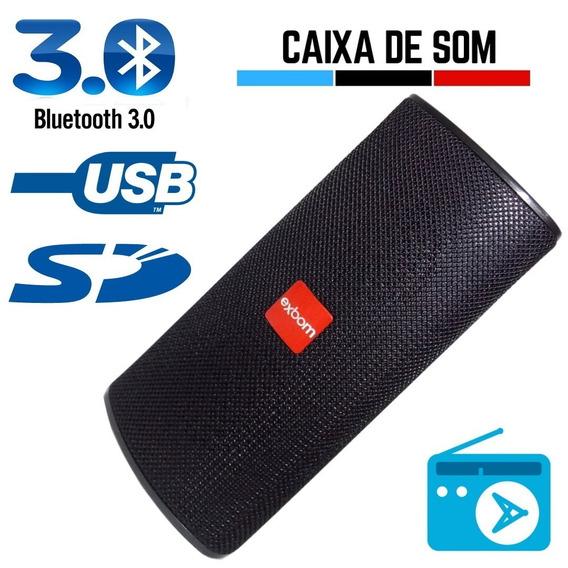 Caixa De Som Bluetooth /pen Drive/cartão De Memória/radio Fm