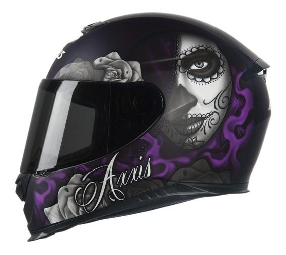Capacete Axxis Eagle Lady Catrina Mt Moto Motociclista
