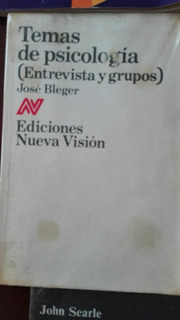Libro Temas De Psicologia (entrevista Y Grupos)