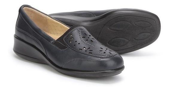 Mocasines Zapatos Onena 8062 Dama Azul Ancho Triple Delicado