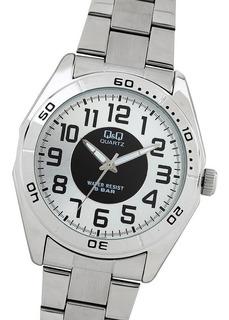 Reloj Q&q By Citizen Hombre Acero Sumergible Agente Oficial