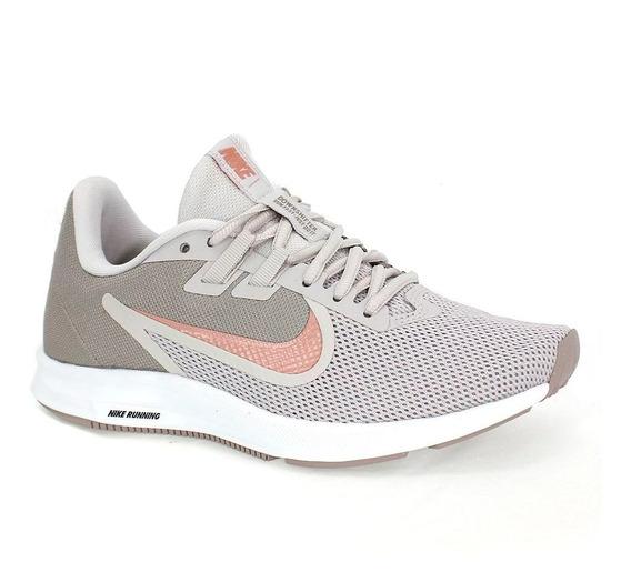 Tênis Nike Downshifter Feminino Cinza E Rosa