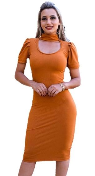 Vestido Midi Feminino Tubinho Moda Evangelica Lançamento