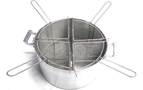 Imagen 1 de 2 de Combo Cacerola Aluminio Nro 36 C/ 4 Canastos Radiales Pastas