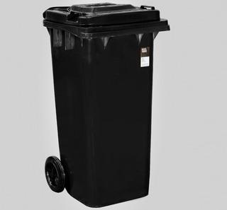 Tacho Contenedor De Basura Negro 120 Litros Residuos