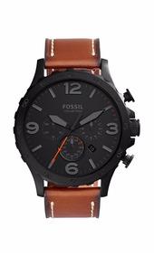 Relógio Fossil Masculino Jr1524/2pn Preto Couro Oferta