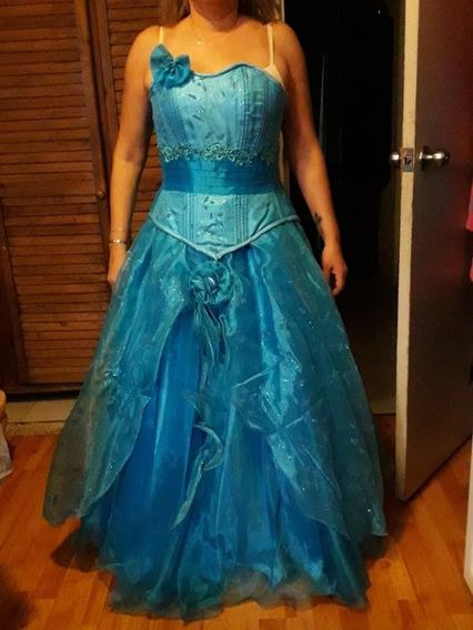 Vestido De Quince Años Azul Turquesa Ropa Bolsas Y