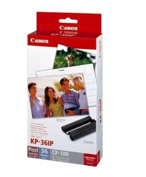 Kit Canon Papel Y Tinta De Color Para Selphy Kp-36ip