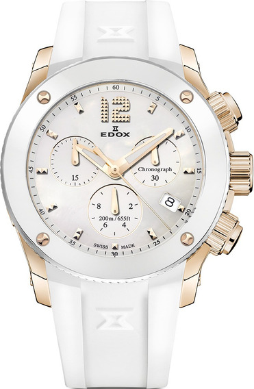 Reloj Edox Suizo De Dama Class1 Blanco 40% De Desc
