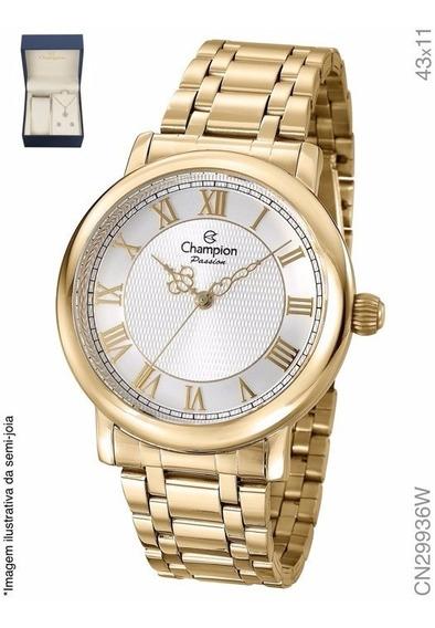 Kit Relógio Champion Dourado Passion Analógico Cn29936w