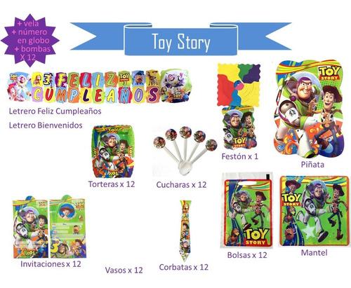 Imagen 1 de 8 de Kit De Decoración De Fiesta Toy Story Cumpleaños, Piñata