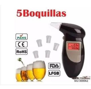 Alcoholímetro Portátil Digital Con 5 Boquillas Medicion W01