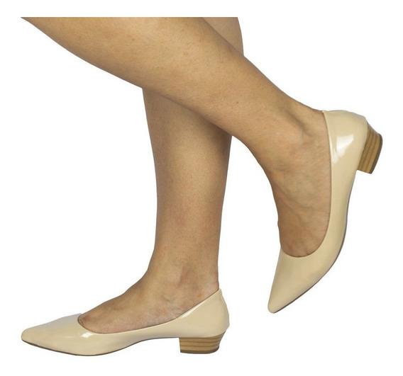 Sapato Scarpin Salto Baixo Medio 2,5cm Social Fashion Casual