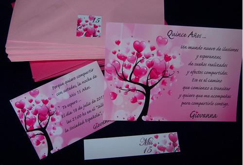 60 Invitaciones Tarjetas Corazones Arbol De La Vida 15