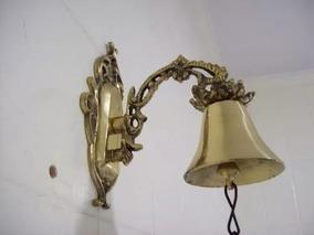 Campainha De Sino Pequena Trabalhada Em Bronze