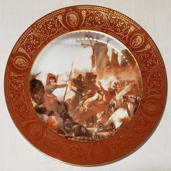 Plato Decorativo De Colección Porcelana Tsuji 24.5 Cm