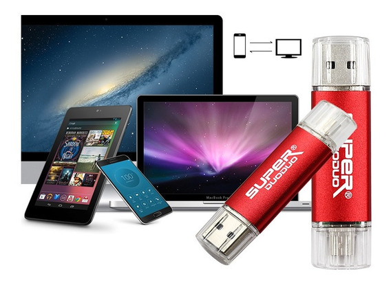 Kit 2 Pen Drives 32gb Otg Dual Duas Entradas Original P/ Celulares