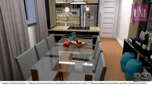 Imagem 1 de 14 de Apartamento Com 2 Dormitórios À Venda, 50 M² Por R$ 269.000,00 - Vila Pires - Santo André/sp - Ap1313