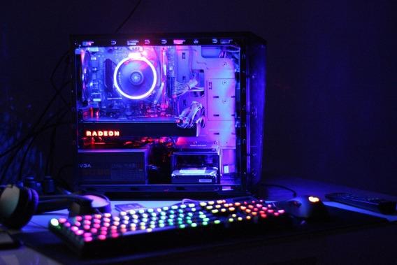 Pc Gamer Amd - Ryzen 7 1700 +rx Vega 64 Silver Limited Edition