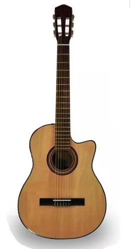 Guitarra Erasmo Falcon Acustica  De Estudio Con Corte