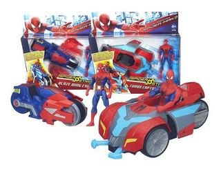 Spiderman Figura Con Vehiculo De Captura Original Hasbro