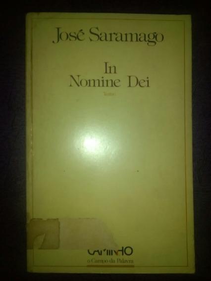 José Saramago In Nomine Dei Autografado.
