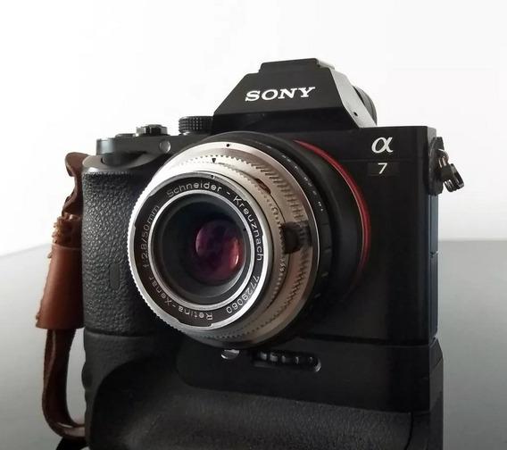 Lente Schneider Xenar 50mm F 2.8 Com Adaptador Sony E-mount