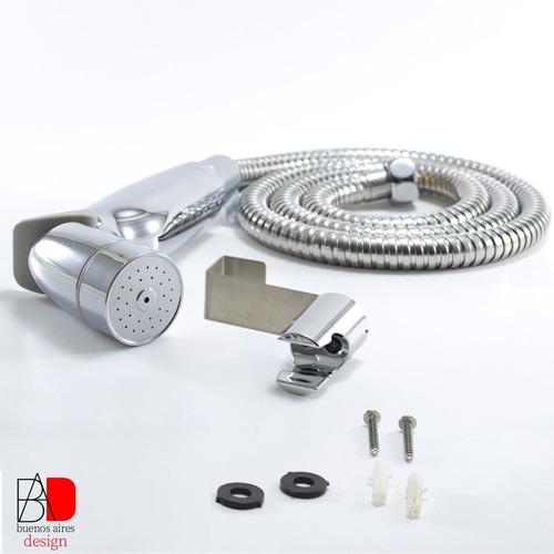 Imagen 1 de 10 de Bidet Duchador P Inodoro Manual Gatillo + Flexible + Soporte