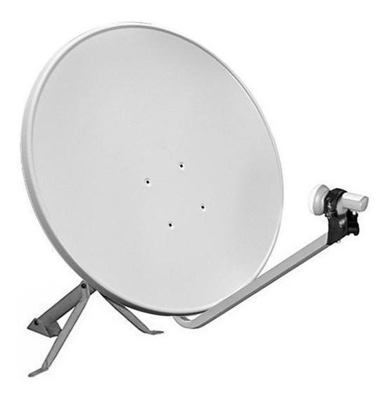 Antena 60cm Ku Com Lnb Duplo Universal