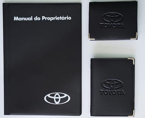 Kit Com Porta Manual Capas Carteiras Toyota