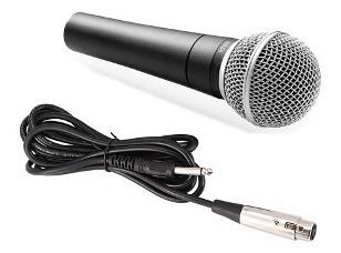 Microfone Dinâmico Cardioide High M58 Com Cabo Xlr/p10