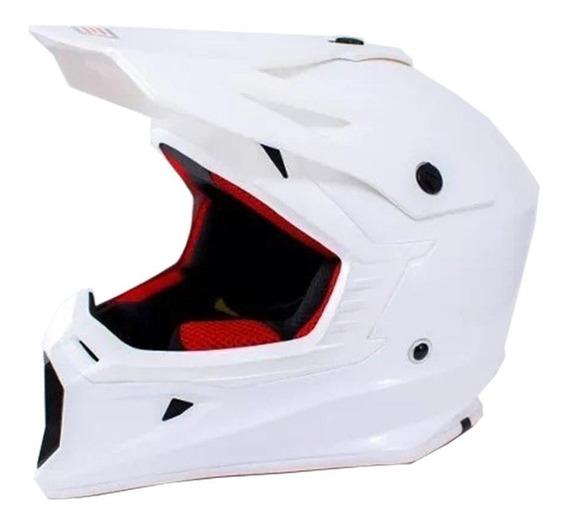 Casco Origine V325 Motocross Enduro Blanco - Trapote Racing