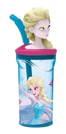 Vaso Frozen Elsa Con Figura En 3d Licencia Casa Valente