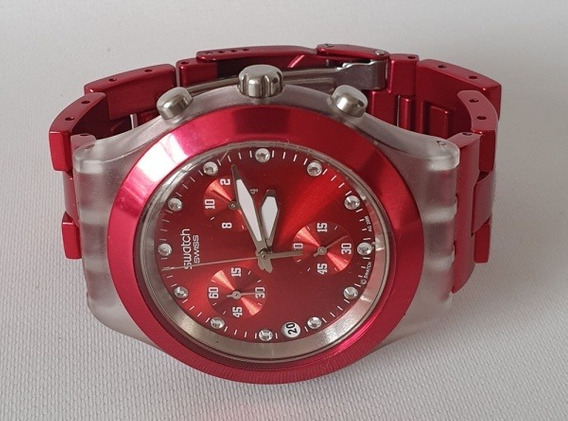 Swatch Swiss Irony Diaphane Full Blood Lindo Relogio Pulso