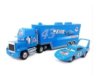 Cars Pixar Camión Mack + Dinoco Auto