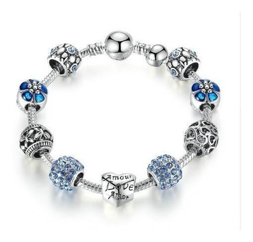 Pulseras De Plata Pandora Para Mujer Con Encantos Charms