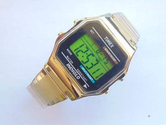 Relogio Antigo Timex Chronograph 739-k4 Anos80 Funcionando
