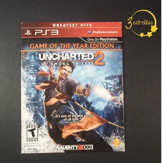 Uncharted 2 Among Thieves Ps3 / 3 Estrellas