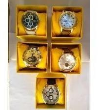 Kit C/10 Relógios Masculinos Pulseira Couro+caixas Da Marca