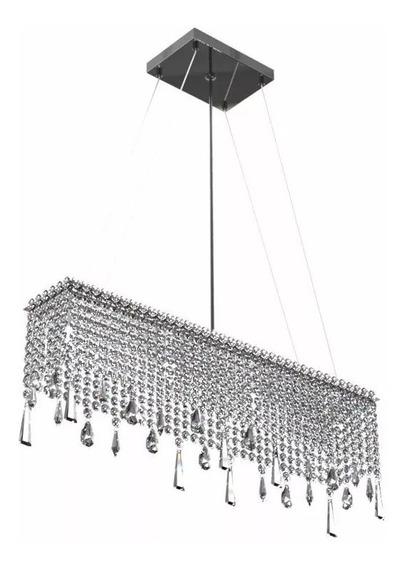 Pendente Lustre Cristal Sala Jantar,estar,mesa 60x12cm