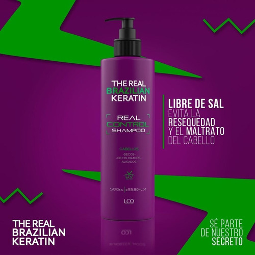 Shampoo Real Control The Real Brazilian Sin Sal