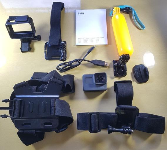 Câmera Digital Gopro Hero 5 Black + Acessórios + Cartão 32gb