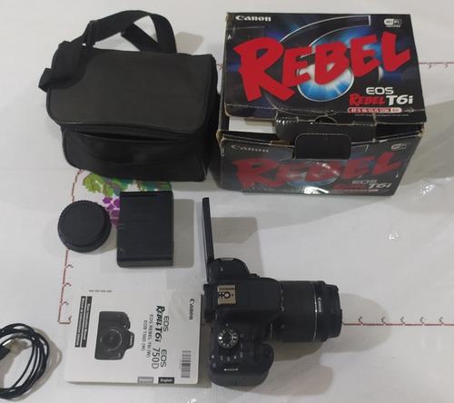 Câmera Canon T6i Muito Nova