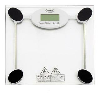 Balança Digital Vidro Banheiro Supermedy 180kg C/ Garantia